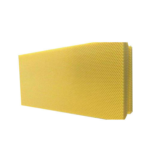 Yellow beeswax comb foundation